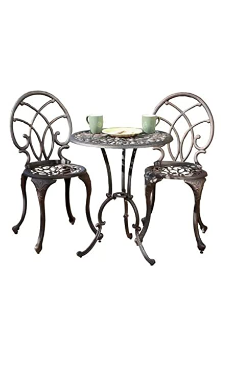 Amazon Com Home Loft Concept Domingo 3 Piece Bronze Cast Aluminum