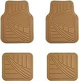 universal car mats tan - AmazonBasics 4 Piece Car Floor Mat, Beige