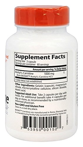 Doctor's Best Best Acetyl L-carnitine featuring Sigma Tau Carnitine, 588 mg Capsules - 51i0XR7vHCL - Doctor's Best Best Acetyl L-carnitine featuring Sigma Tau Carnitine, 588 mg Capsules