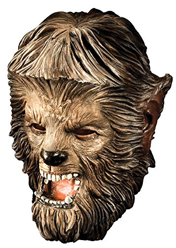 Wolfman Deluxe Latex Mask - Halloween Mask (Deluxe Latex Wolf Adult Mask)