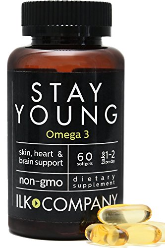 100% Fish Oil Omega 3 - Pure DHA + EPA Supports Healthy Skin, Cardiovascular Health & Brain Function - Non-GMO - Dietary Supplement for Men & Women, 60 Softgels