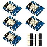 IZOKEE D1 Mini NodeMcu Lua 4M Bytes WLAN WiFi Internet Development Board Base on ESP8266 ESP-12F for Arduino, 100% Compatible with WeMos D1 Mini (Pack of 5)