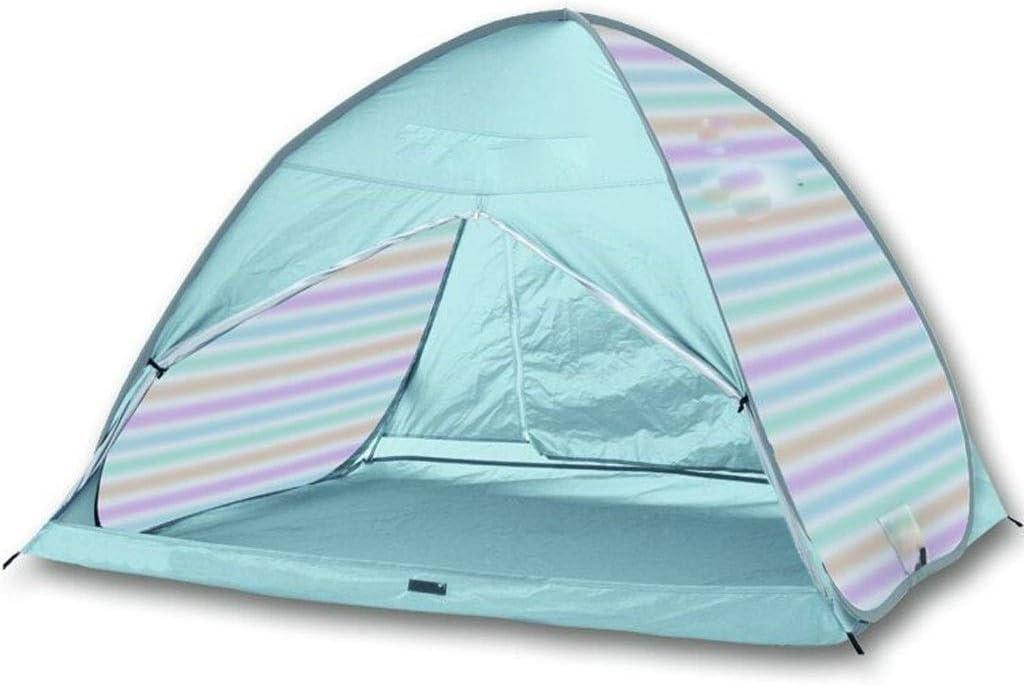Yppss Strandzelt, Strandzelt Plus-Strandschirm Sun Shelter Cabana Automatische Pop Up Sonnenschutz Tragbare Camping Wandern Automatische Camping-Zelt Eternal (Color : Blue) Purple