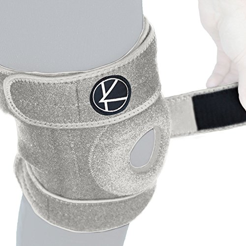 Adjustable Knee Brace Support for Arthritis, ACL, MCL, LCL, Sports Exercise, Meniscus Tear, Injury Recovery, Pain Relief, Walking – Open Patella Neoprene Stabilizer Wrap for Women, Men, Kids(Size ()