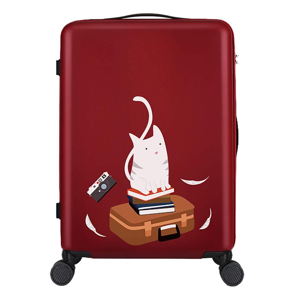 トロリーボックスPC大容量ポータブル出張ミュートキャスタースーツケース(赤) B07MMWLRMV