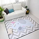IHEARTYOU Elephant Mommy And Baby Thicken Extra Lagre Foam Kids Play Mat Baby Rug Soft Non-slip Baby Crawling Mat Playmats Kids Rug Baby Gym Mat, 0.8″ Thick For Sale