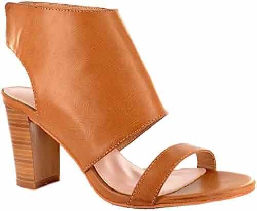 40b45b76baafa0 Corkys Reno Womens Stacked Heel Open Toe Shoes (6 US)