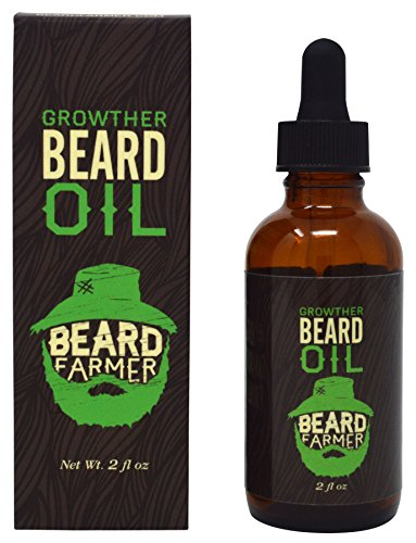Beard Farmer - Growther Beard Growth Oil (Grow Your Beard Fast) All Natural Beard Oil (Best Beard Growth Serum)