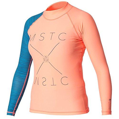 2016 Mystic Ladies Medina L/S Rash Vest Coral 160320
