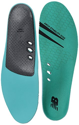 New Balance Insoles 3720 Arch Stability Insole Shoe, teal, 11.5-12 W US Women / 10-10.5 M US Men