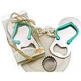 "Meiysh 24 pcs Wedding Favors Gift ""Pop the Top"" Flip-flop Bottle Opener Wine Openers (24, blue)"