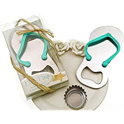 "Meiysh 24 pcs Wedding Favors Gift ""Pop the Top"" Flip-flop Bottle Opener Wine Openers (24, blue)"