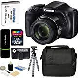 Canon PowerShot SX540 HS 20.3MP Super 50x Optical Zoom IS 1080p HD Video Wi-Fi CMOS Digital Camera + Case + Spare Battery + Tripod + 32GB Deluxe Accessories Bundle