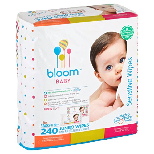(Baby Wipes by bloom BABY | Unscented | For Sensitive Skin | Formulated for Diaper Area | Water-Based | Infused with Plant-Derived Vitamins | Hypoallergenic | Textured & Thick 8