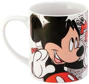 Mickey y Minnie 770130 - Mickey  - Taza de porcelana en paquete regalo (12 x 9 x 10 cm)