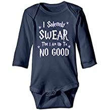 Baby Onesie I Solemnly Swear That I Am Up To No Good Long Sleeve Vintage