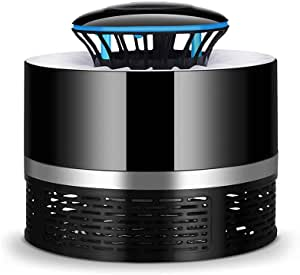 Electric Mosquito Killer with Trap Lamp Chemical-Free USB Powered UV LED Light Photocatalyst Fly Bug Dispeller with Suction Fan for Indoor Home