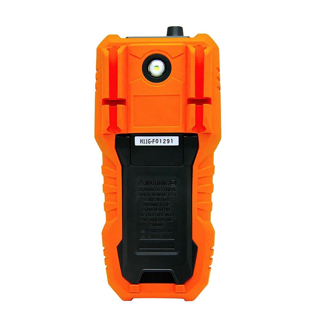 Sharplace Multimetre Outil Professionnel Mesurer Tension Temp/érature Fr/équence /Écran LCD Num/érique