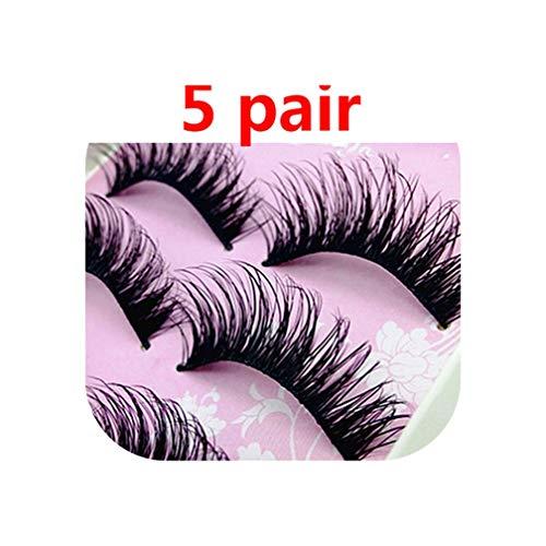 5Pair Thick Fake Eyelashes Natural False Eyelashes Volume Lashes Artificial Eyelashes Extensions False Lashes Makeup Lashes,Brushed Chrome