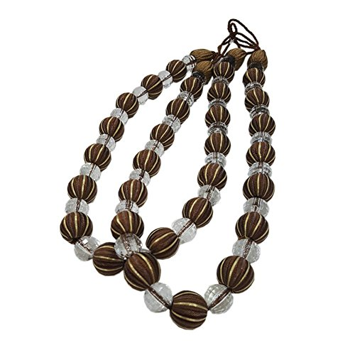 EleCharm 1 Pair Modern Acrylic Beaded Drape Curtain Tieback Curtain Beads Rope ()