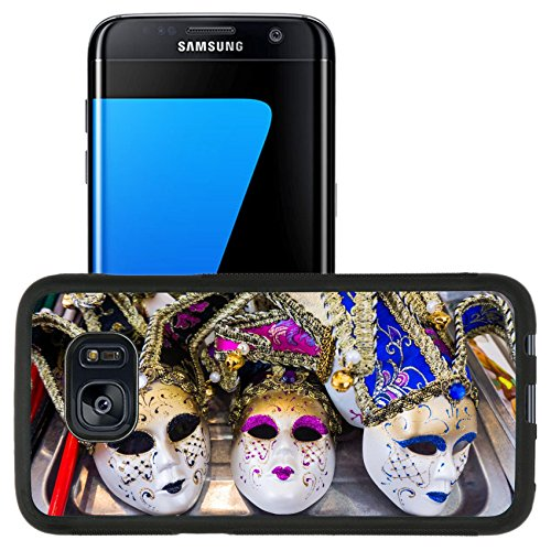 Cultural Costumes Of Italy (Luxlady Premium Samsung Galaxy S7 Edge Aluminum Backplate Bumper Snap Case IMAGE ID: 35896176 Venetian masks Masks in Venice Italy)