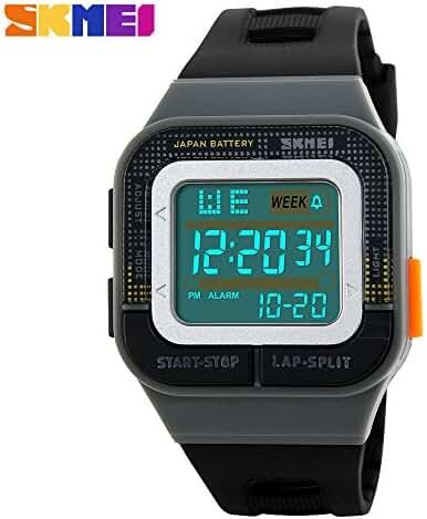 Girl's Electronic Digital Waterproof Sports Wrist Watch For Student grey