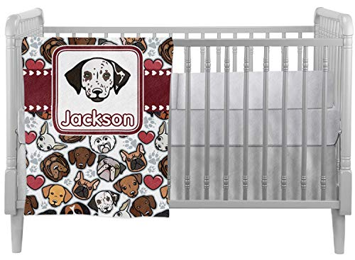 Boxer Milano - Dog Faces Crib Comforter/Quilt (Personalized)