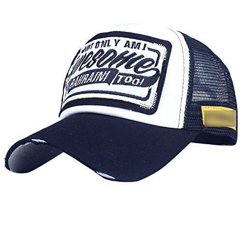 夏 野球のキャップ刺繍メッシュキャップ 男性女性の帽子 カジュアル ヒップホップのキャップ,G