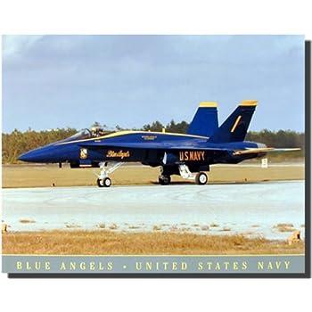 Amazon.com: US Navy Blue Angels Jet Aviation Aircraft Wall