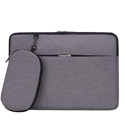 Cartinoe Laptop Sleeve 13-13.3 Inch Waterproof Fabric Laptop Bag Carrying Case for MacBook Pro/MacBook Air 13 / HP Asus Acer Chromebook Ultrabook 13 inch Case with Accessory Pocket, Grey