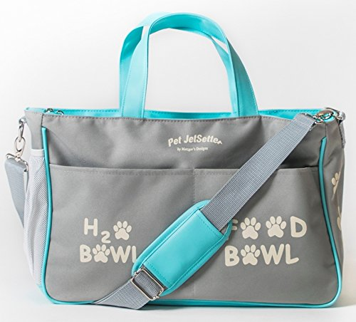 Large Dog Travel Bag Holds All Supplies. Your Dog's Own Diaper Bag. Many Colors.