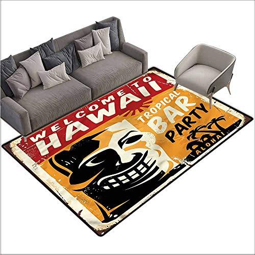Floor Mat Entrance Doormat Tiki Bar,Tropic Bar Party 60