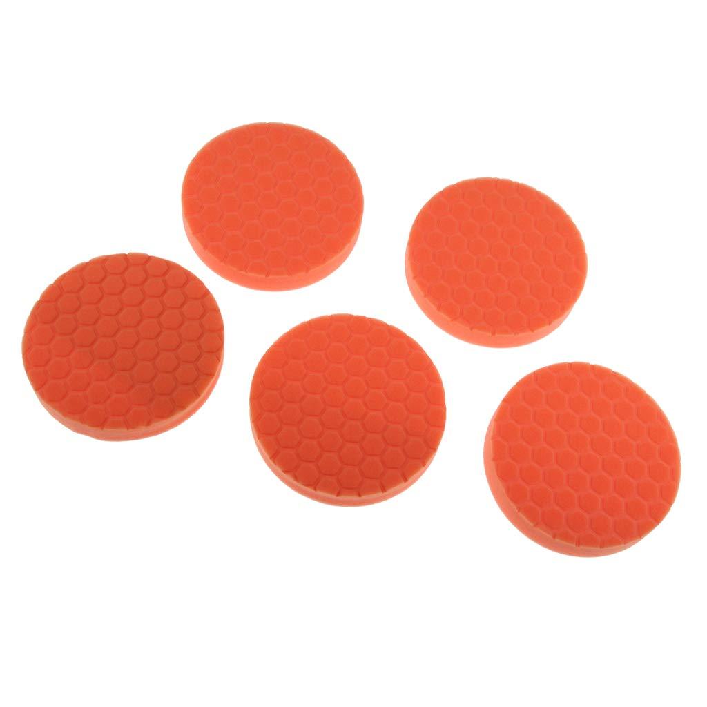 5pcs Multi-Color Washable Foam Buffing Pads for Auto Car Detail Polishing