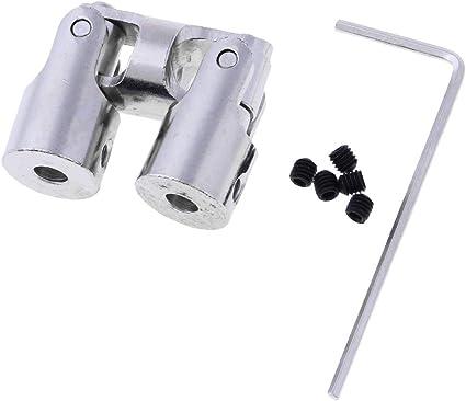 Homyl 5//Set Coupleurs darbre Rigide Joint de Cardan M/étal Couplage pour RC Voitures Bateau H/élicopt/ères 4 /à 4mm
