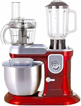 amasadora planetaria Robot de cocina Master km8111 Rojo/Silver picadora: Amazon.es: Hogar