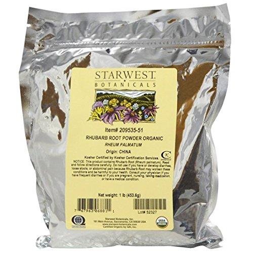 Organic Rhubarb Root Powder 1 Pounds