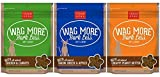 Cloud Star Wag More Bark Less Soft & Chewy Dog Treats 3 Flavor Variety Bundle: (1) Wag More Bark Less Soft & Chewy Creamy Peanut Butter, (1) Wag More Bark Less Soft & Chewy Bacon, Cheese, and Apples, and (1) Wag More Bark Less Soft & Chewy Chicken & Carrot