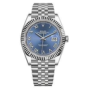 Best Epic Trends 51i0by7nj%2BL._SS300_ Rolex Datejust 41 Blue Roman Numeral Dial Men's Luxury Watch Ref. 126334
