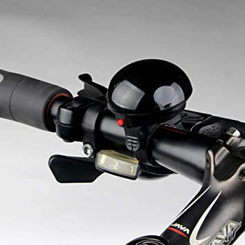 Timbre electrónico para bicicleta, manillar de bicicleta, timbre electrónico, anillo de seguridad, sonido alto, mancuernas ultrarrápidas para bicicletas de carretera, negro: Amazon.es: Bricolaje y herramientas