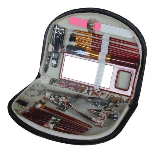 MEGAPROM - 19 tlg. Maniküre Pedikür Make Up Beauty Kosmetik Pflege Set Maniküreset Pedikürset