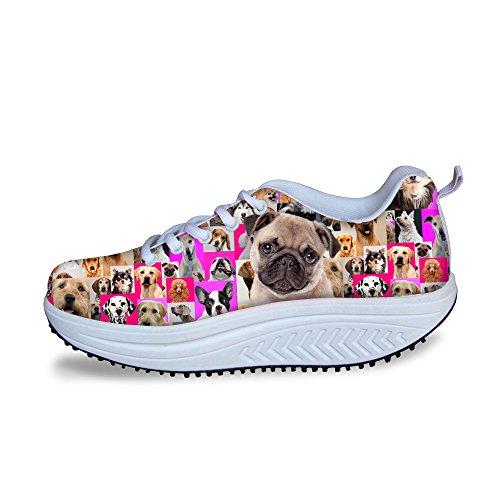 Câlins Idée Rose Mode Plate-forme Sneakers Fitness Chaussures De Marche Pour Les Femmes Carlin