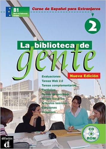 Descargas de libros electrónicos gratis en pdf gratis La Biblioteca de Gente 2 DVDROM + Guía (Ele - Texto Español) 848443477X PDF