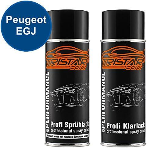 Tristarcolor Autolack Spraydosen Set Für Peugeot Egj Bleu Klein Santorin Blu Santorini Basislack Klarlack Sprühdose 400ml Auto