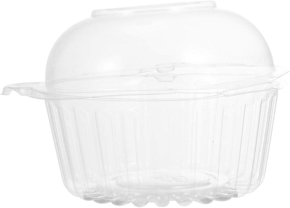 Hemoton 100 St/ücke Cupcake Box Plastik Muffin Schachtel Kuchenbeh/älter Kuchenbox Mondkuchen Verpackung Macaron Geschenkbox f/ür Patisserie Torten Dessert S/ü/ßigkeiten Donut Kuchen Container
