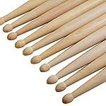 ROSENICE-7A-Maple-Drum-Sticks-Drum-Accessories-Multi-Color-for-Kids-Children-5-Pairs