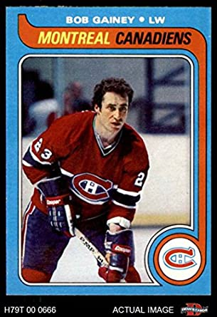 super popular 98716 d1a4d Amazon.com: 1979 Topps # 170 Bob Gainey Montreal Canadiens ...
