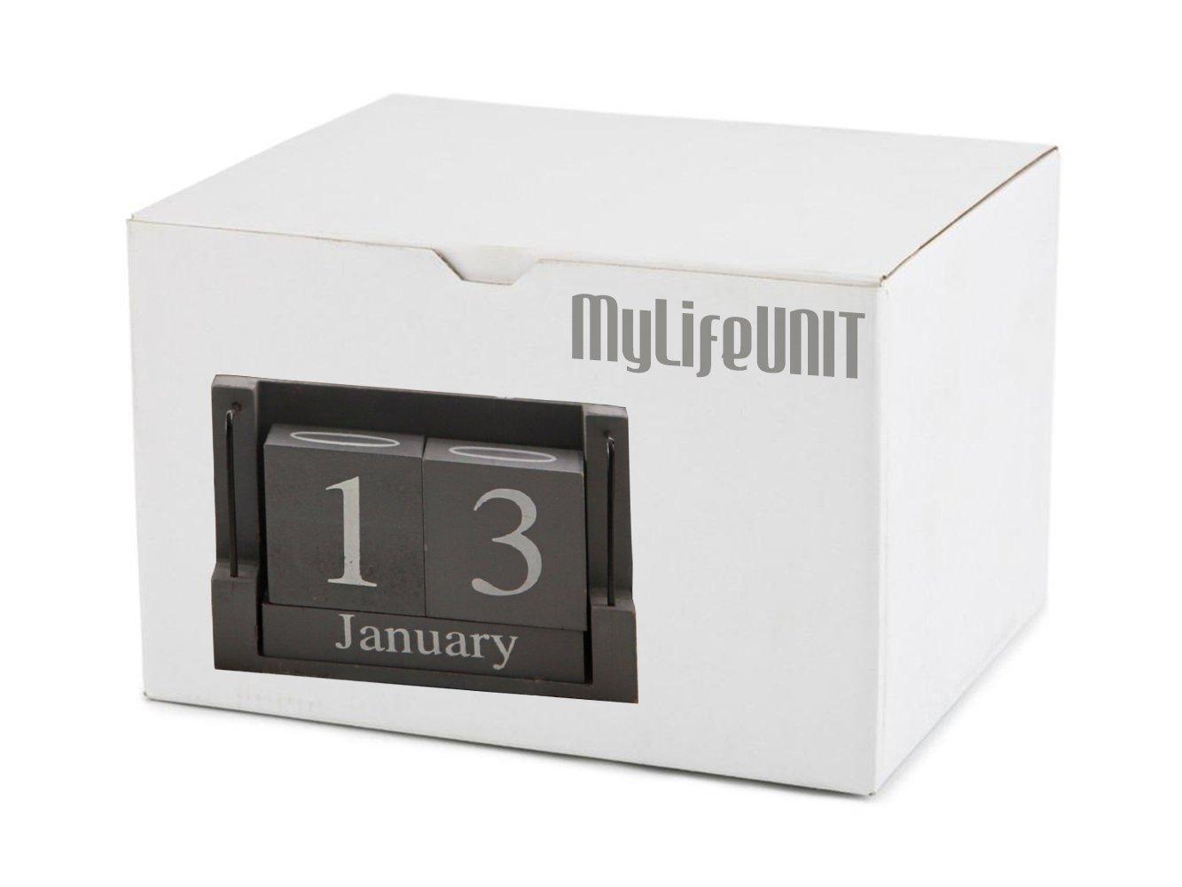 MyLifeUNIT Shabby Desktop Wood Block Perpetual Calendar by MyLifeUNIT (Image #6)