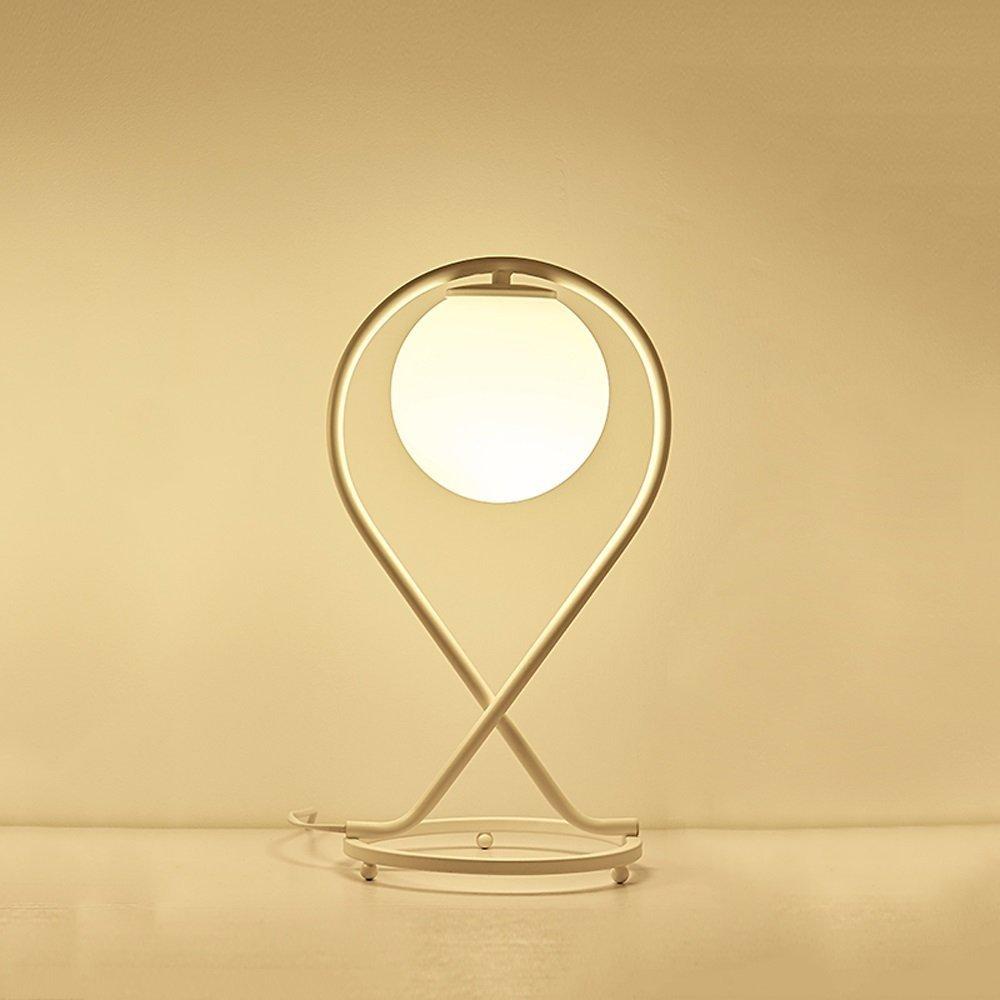 SED Lámpara de Mesa Moderna Moderna Moderna del Vidrio de Hierro de la Manera Simple para la lámpara de Escritorio del Estudio de la Sala de Estar Lámpara de Escritorio Creativa del Estudio lámpara Ahorro de energí 59b8e8
