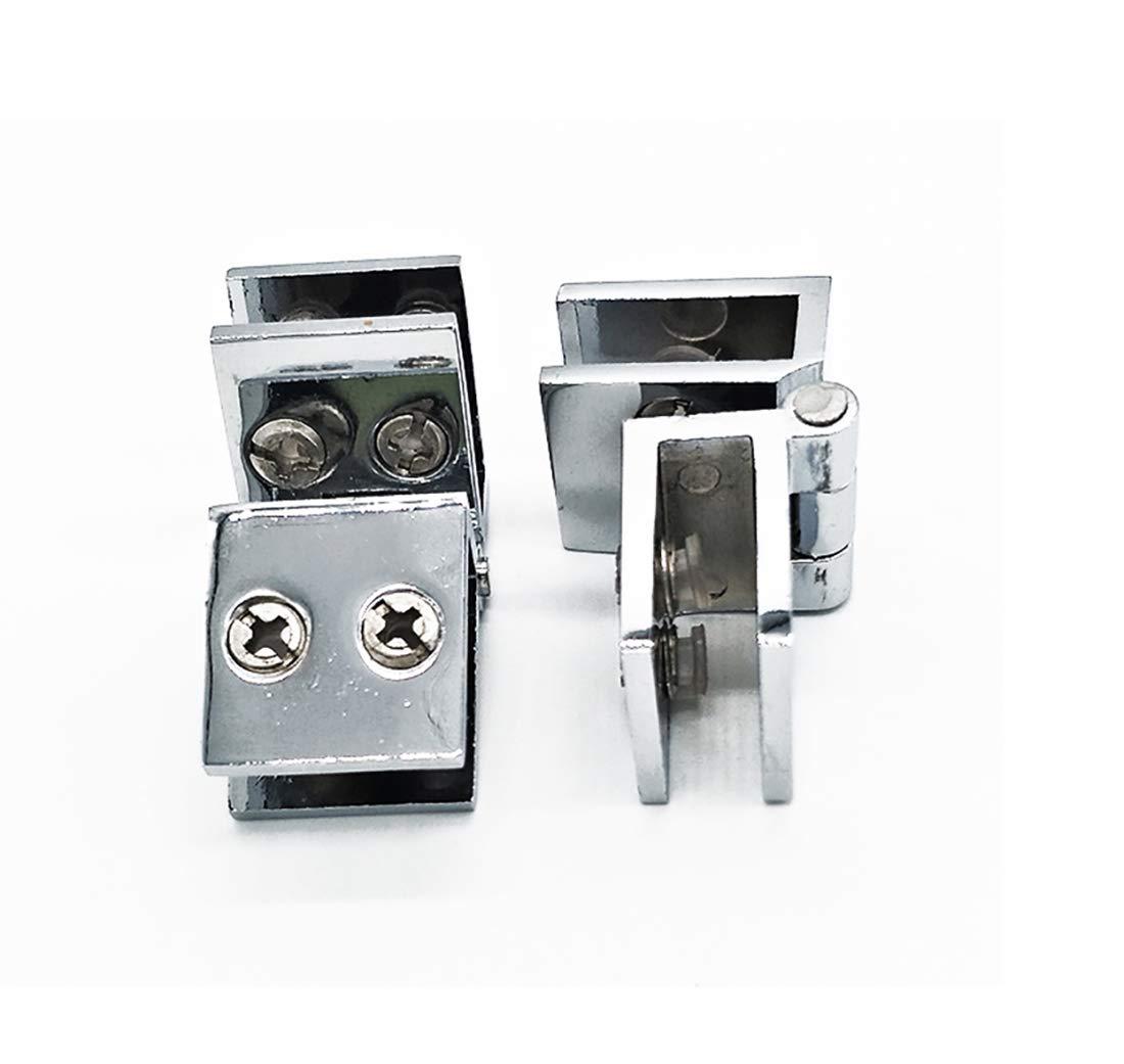 Drenky 2 PCS 90 degrés clip de porte en verre charnière sans verre de perçage à charnière en verre pour épaisseur de verre 5mm - 8mm