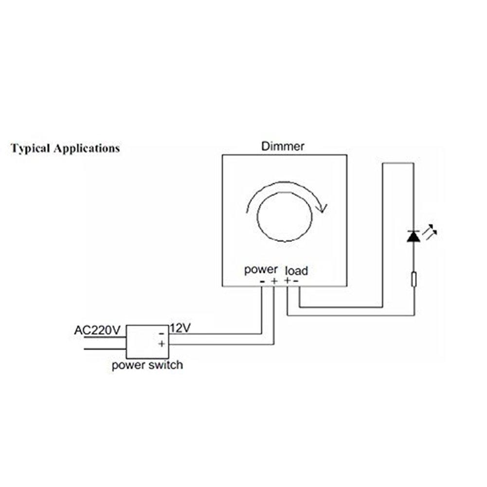 FAVOLCANO® (3 Pack) Dimming Controller For Single Color LED Lights or Ribbon, 12 Volt 8 Amp,Adjustable Brightness Light Switch Dimmer Controller DC12V 8A 96W for Led Strip Light by FAVOLCANO (Image #7)